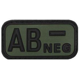 MFH nášivka krvná skupina 3D AB negative čierna 5x2,5cm