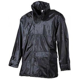 MFH nepremokavá bunda do dažďa PVC čierna