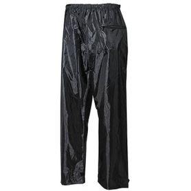 MFH nepremokavé nohavice polyester s PVC čierne