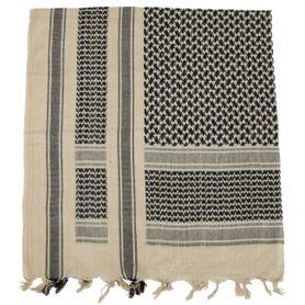 MFH PLO bavlnená arafatka čierno - piesková, 115 x 110cm
