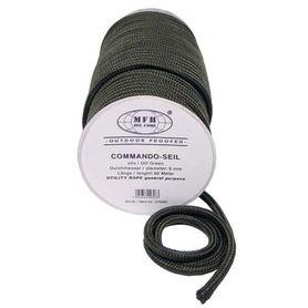 MFH polypropylénové lano 60 metrov 9mm olivové