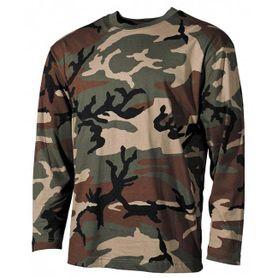 MFH tričko s dlhým rukávom vzor woodland, 160g/m2