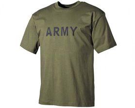 MFH tričko s nápisom army olivové, 160g/m2
