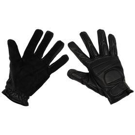 MFH Widlle kožené rukavice čierne s polstrovaním