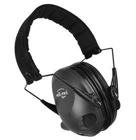 Mil-tec Activ elektronické slúchadlá proti hluku, čierna