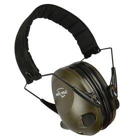 Mil-tec Activ elektronické slúchadlá proti hluku, olivové
