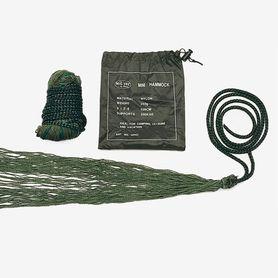Mil-Tec hojdacia sieť, hamak, mini s obaľom, olivová