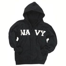 Mil-tec Navy mikina s kapucňou, tmavomodrá