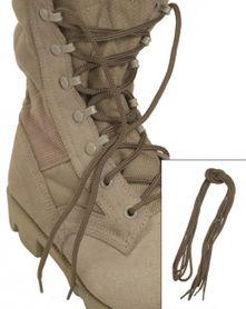 Mil-Tec Pe šnúrky do topánok, coyote 220cm
