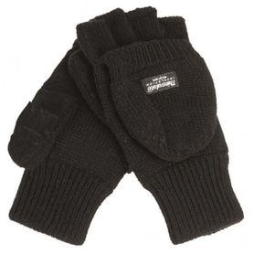 Mil-Tec rukavice s odnímatelnou prstovou časťou, čierne