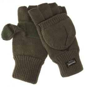 Mil-Tec rukavice s odnímatelnou prstovou časťou, olivové