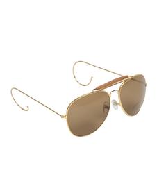 Mil-tec slnečné okuliare Air Force s púzdrom, hnedé