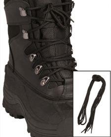 Mil-Tec Co šnúrky do topánok, čierne 220cm