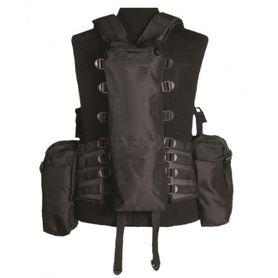Mil-Tec taktická vesta s 12 vreckami, čierna