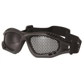 Mil-Tec taktické okuliare s kovovou očnicou, čierne