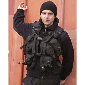 Mil-Tec US LB taktická vesta, čierna