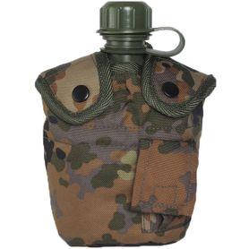 Mil-Tec US poľná fľaša vzor Flecktarn 1l s ALU miskoou