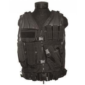 Mil-Tec USMC taktická vesta s opaskom, čierna