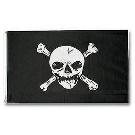 Mil-Tec vlajka pirát (Jolly Roger), 150 cm x 90 cm