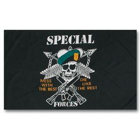 Mil-Tec vlajka special forces, 150 cm x 90 cm