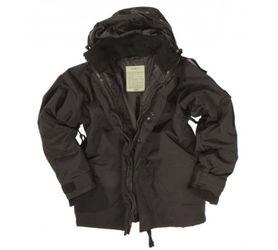 Mil-Tec zimná trojvrstvová nepremokavá bunda, čierna