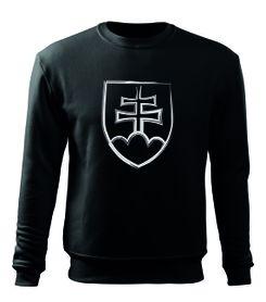 O&T pánska mikina slovenský znak, čierna 300g/m2