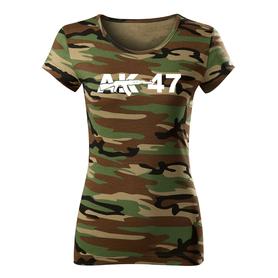 O&T dámske tričko ak47, maskáčová 150g/m2