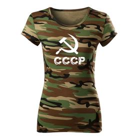 O&T dámske tričko cccp, maskáčová 150g/m2