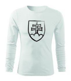 O&T Fit-T tričko s dlhým rukávom slovenský znak, biela 160g/m2