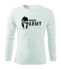 O&T Fit-T tričko s dlhým rukávom spartan army, biela 160g/m2