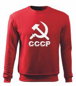 O&T pánska mikina cccp, červená 300g/m2