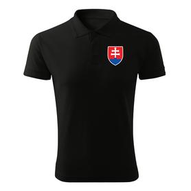 O&T polokošela malý farebný slovenský znak, čierna 200g/m2