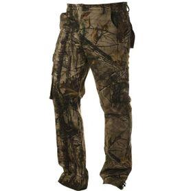 Pánske zateplené nohavice loshan MXD vzor Real tree tmavé
