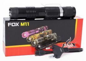 Paralyzér s baterkou Fox M11 čierny, 300 000V