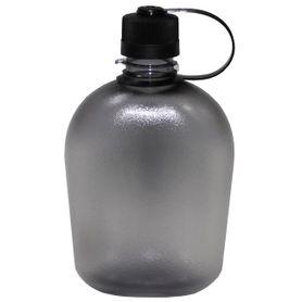Poľná fľaša transparentná čierna, 1l