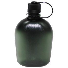 Poľná fľaša transparentná olivová, 1l