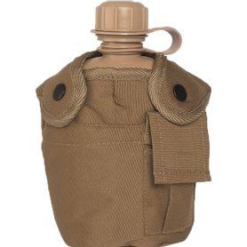 Mil-Tec US poľná fľaša US Coyote 1l s ALU miskou