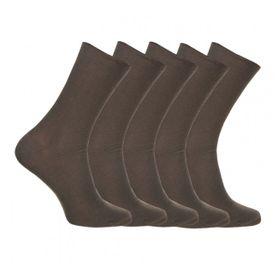 Ponožky zdravotné olivové, 5 párov