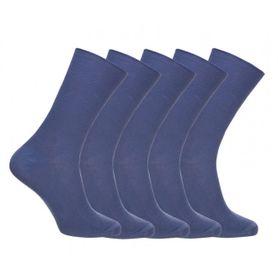 Ponožky zdravotné modré, 5 párov