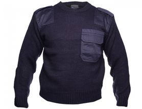 Sweater BW security sveter tvamo-modrý