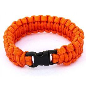 SVK náramok paracord, plastová pracka, oranžový