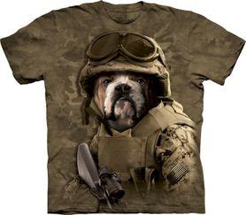 The Mountain 3D tričko armádny pes, unisex