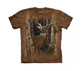 The Mountain 3D tričko jeleň v lese, unisex