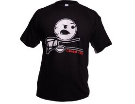 Funny vtipné tričko, cereal guy čierne