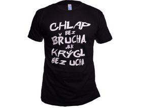 Funny vtipné tričko, chlap bez brucha čierne