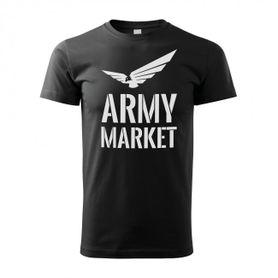 Tričko čierne s logom armymarket