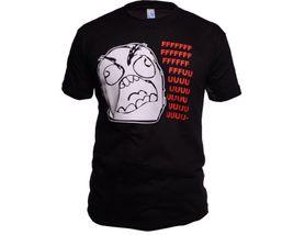 Funny vtipné tričko, fffffuuuuu čierne