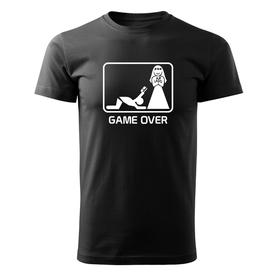 O&T krátke tričko game over, čierna 160g/m2