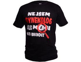 Funny vtipné tričko, gynekológ čierne