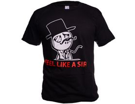 Funny vtipné tričko, like a sir čierne